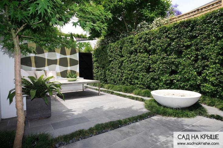 Современный ландшафтный дизайн возле дома