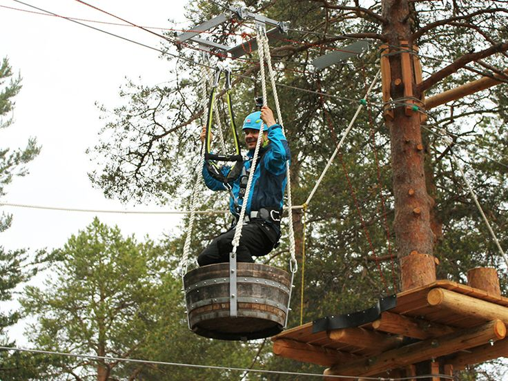 Arctic Adventure Park Huima - open all summer! Huima has 10 different courses, up to 7 meters above ground.