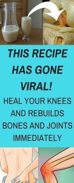 This Recipe has Gone Viral Heal Your Knees and Rebuilds Bones and Joints Immediately