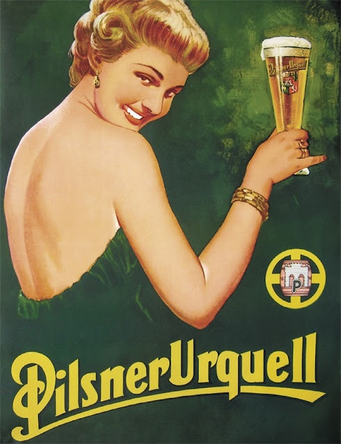 Pilsner Urquell by Bohumil Konecny. 1950s.