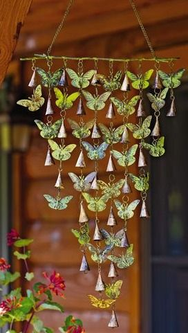 Could do a dragonfly hanging thing? Butterfly bell chimes