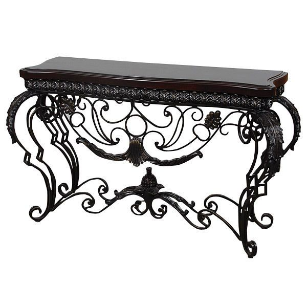 Console Table Mediterranean Style Black Scrolled IRON Handmade New Ships Free #Mediterranean #rt