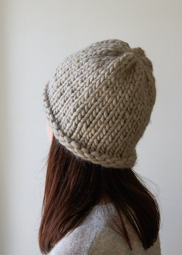 Homestretch Hat | Purl Soho Super bulky yarn, no dpns!