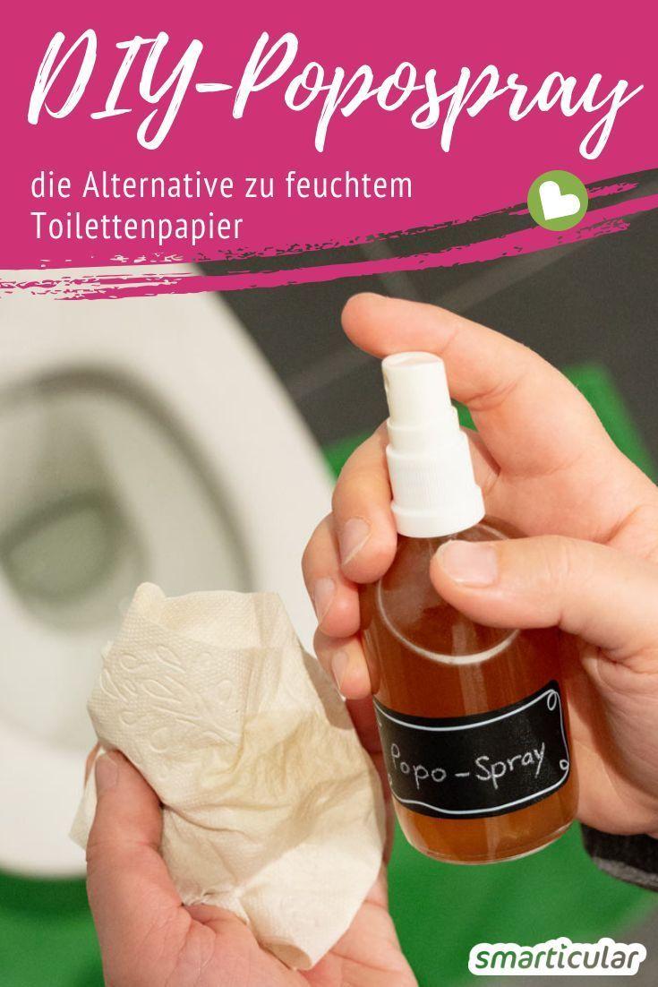 Popospray selber machen – ersetzt feuchtes Toilettenpapier