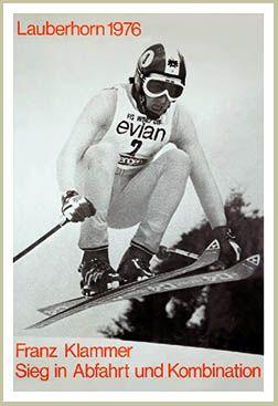 Franz Klammer Lauberhorn World Cup Ski Race 1976 Vintage Ski Poster