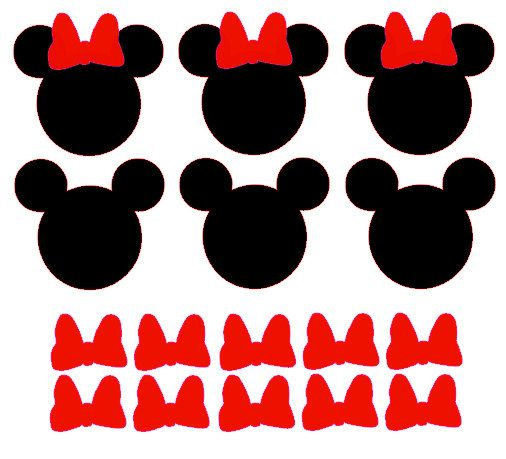 20 Minnie Mouse Vinyl Decals by TheFunkyPolkaDot on Etsy