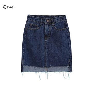 Denim mujer falda midi vaqueros saia falda lápiz saia feminina jupe crayón jupe femme faldas 2015 WL055