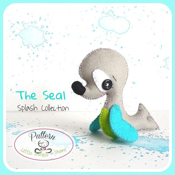 El sello PDF patrón mar animales juguete por LittleThingsToShare