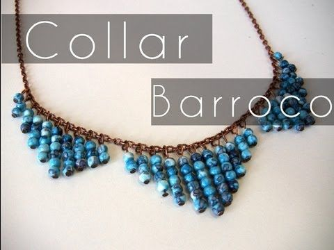 Bisuteria DIY - Collar estilo Barroco - YouTube (Necklace - Spanish)
