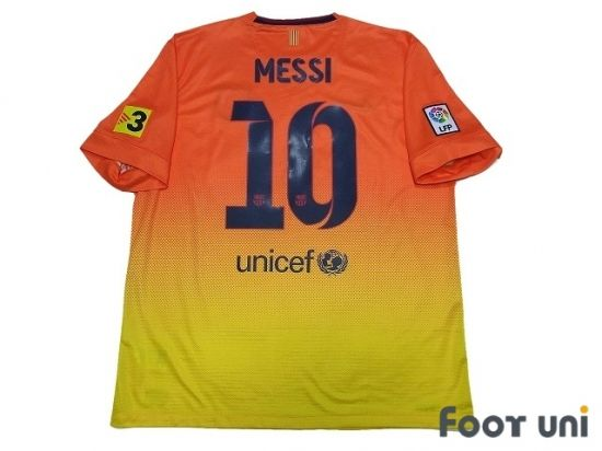 Photo2: Barcelona 2012-2013 Away Shirt #10 Messi TV3 Patch/Badge LFP Patch/Badge nike unicef - Football Shirts,Soccer Jerseys,Vintage Classic Retro - Online Store From Footuni Japan