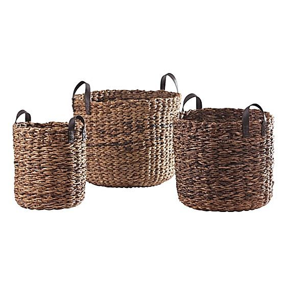 Rosebud storage baskets