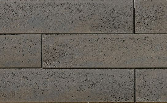 Proterra Greyfield Smooth Wall by Oaks Landscape Products. Appropriate for freestanding, gravity and geosynthetic-reinforced walls.