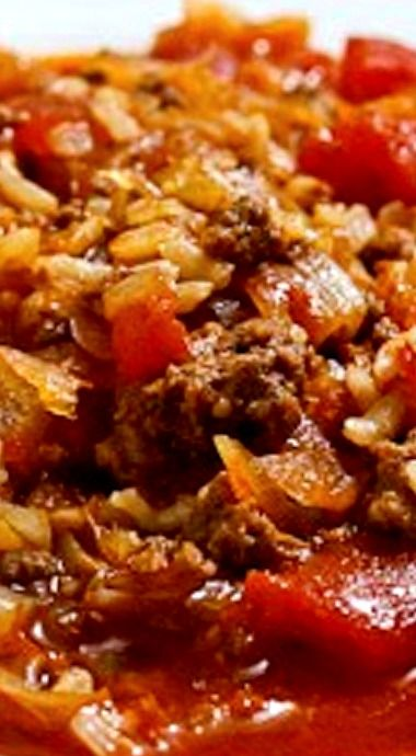 """Sauerkraut Cabbage Roll Soup - Sauerkraut replaces the cabbage in this recipe for a more """"kicked-up"""" flavor ❊"""