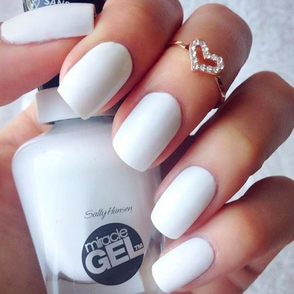 Bright white, and out of sight! This stunning manicure comes from Insta user nailsanatomy, who used Miracle Gel in the Get Mod shade.