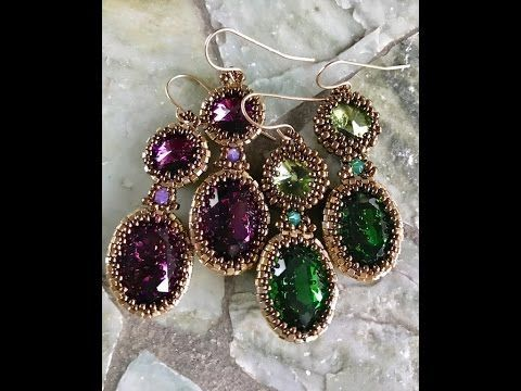 Interlace Earrings - A Bronzepony Beaded Jewelery Design - YouTube  Fancy swarovski crystals and seed beads