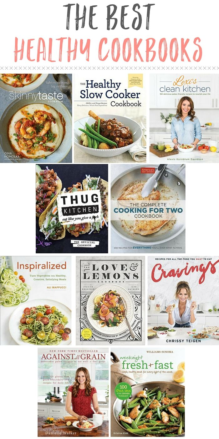 Get inspired with these healthy cookbooks!