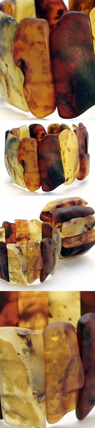 Baltic Amber Cuff Bracelet by Neshka