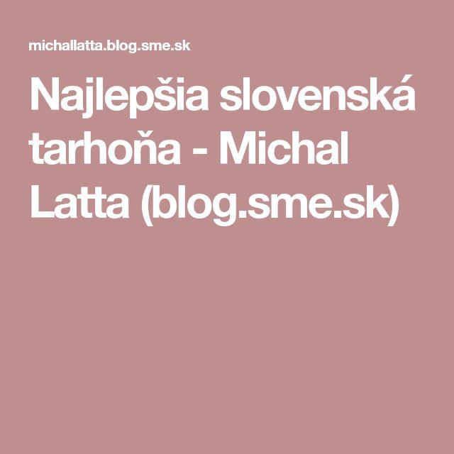 Najlepšia slovenská tarhoňa - Michal Latta (blog.sme.sk)