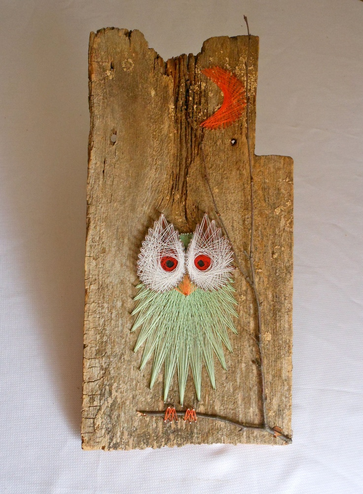 I would love to have this in my house! Vintage Owl String Art Wall Hanging. $29.00, via Etsy.