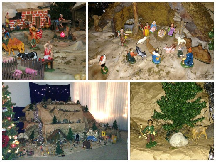 Submitted by Teri in IL: My fiancee's father began collecting and displaying the Nativity scene when my fiancee was just a child. When Dad passed away Robert and his brother David both wanted to keep the tradition, so they split the collection in half. This is the first year Robert and I have been in a home where there was enough room to share the magic. Members of the family and friends have come over to reflect on what Dad began.
