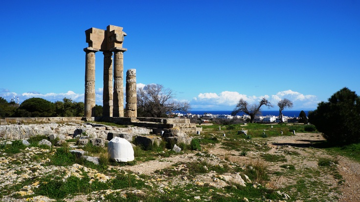 Rhodes Island Greece  - Temple of Pythian Apollo - Acropolis of Rhodes Town
