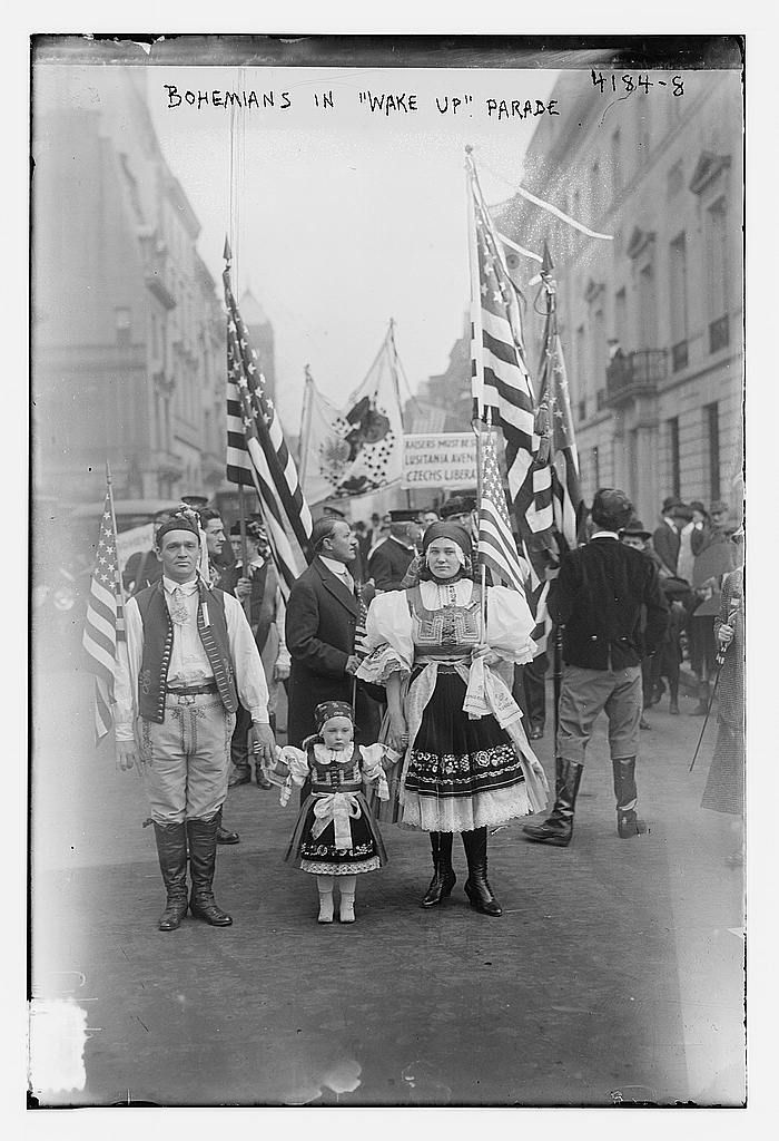 """Title: Bohemians in """"Wake up"""" parade  Creator(s): Bain News Service, publisher  No date listed."""