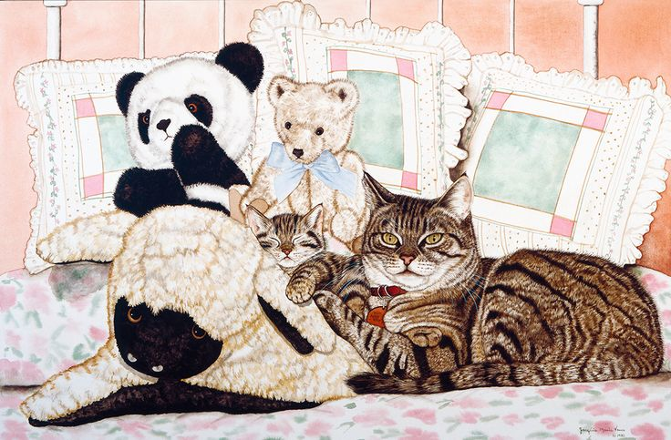 Masterpiece Art - Kitty with Toys I, $21.60 (http://www.masterpieceart.com.au/kitty-with-toys-i/)