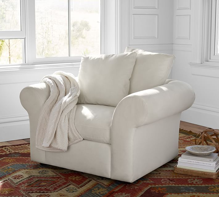 Delightful PB Air Upholstered Armchair
