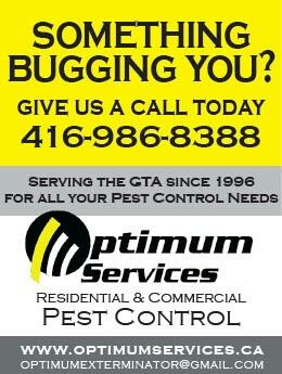 For all your Pest Control needs give us a call today 416-986-8388. #optimumservices #torontopestcontrol