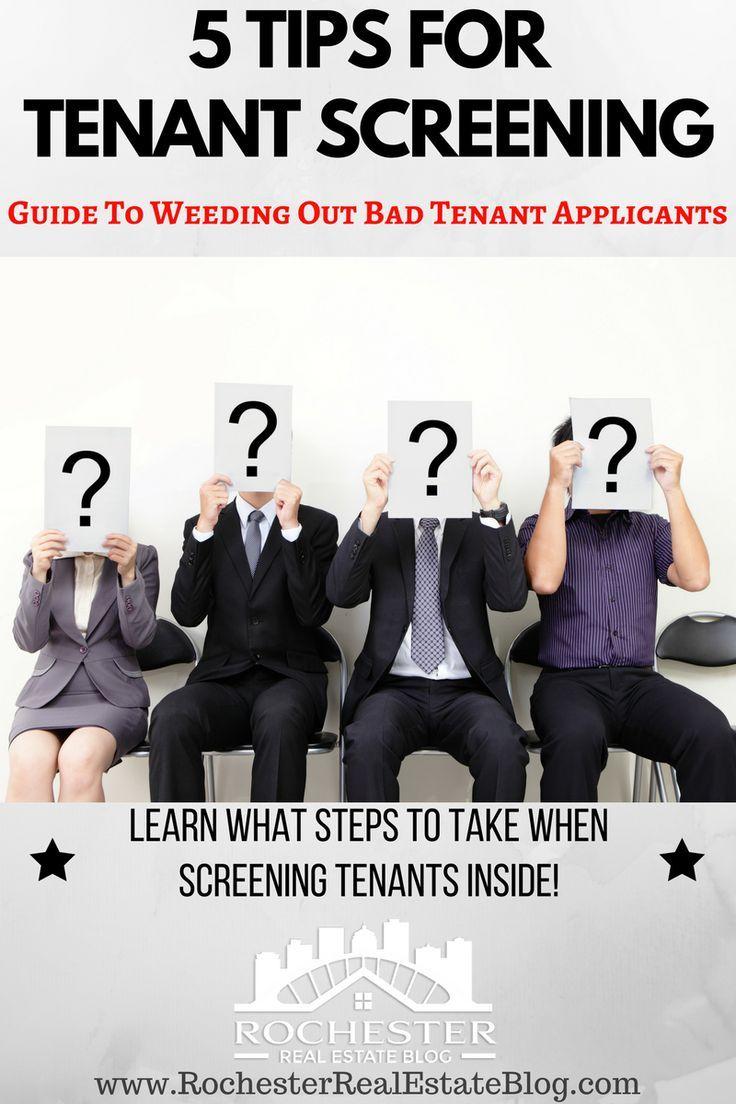 5 Tips For Tenant Screening   Real Estate Investing   Tenant