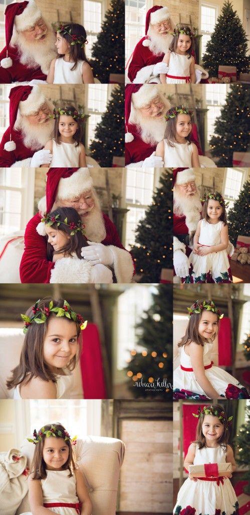 Santa Mini Sessions. Holiday Mini Sessions. Raleigh Santa Mini Sessions Photographer. Rebecca Keller Photography