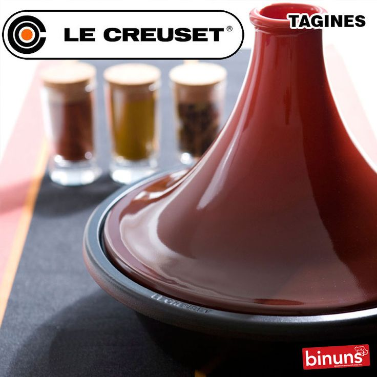 LE CREUSET'S TAGINES  Le Creuset's Cast Iron Tagines gives you the ultimate Morrocan cuisine experience. The cast iron ensures perfect heat retention, and it's distinctive lid allows for maximum condensation to the base, moistening and tenderising ingredients. The perfect tagine for meats, veggies and fruits 'n roots.  http://www.binuns.co.za/Brands/LeCreuset/CookwareCastIron/LeCreusetCastIronTagines.aspx
