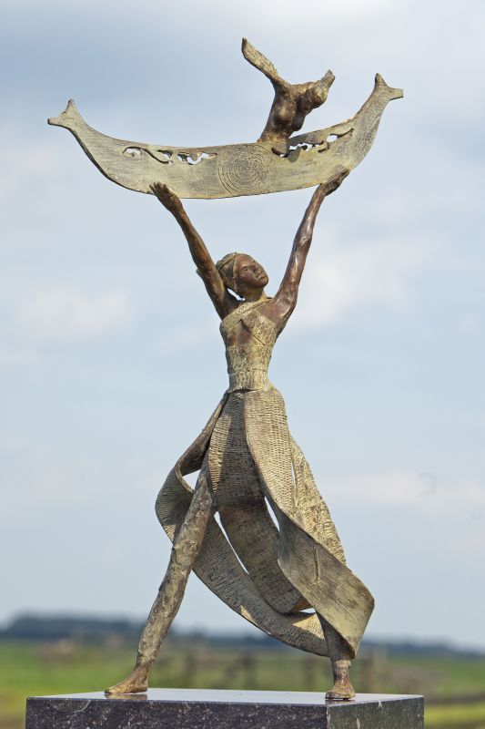 Best Modern Sculpture Images On Pinterest Paintings Books - This beautiful bronze sculpture has been attached to a tree since 1968