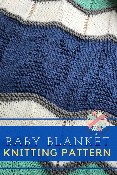 Whale of a Time Baby Blanket Nautical Themed Easy Knit ...
