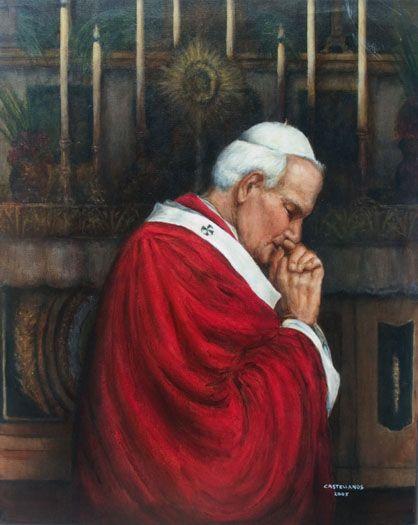 Portrait of St. John Paul II Pope John Paul II