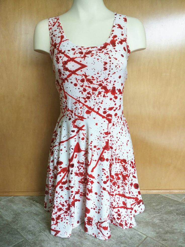 FREE SHIPPING Blood Spatter Dress Plus Size XL Zombie Princess Skater Dress by DulcetSoul on Etsy https://www.etsy.com/listing/236048273/free-shipping-blood-spatter-dress-plus