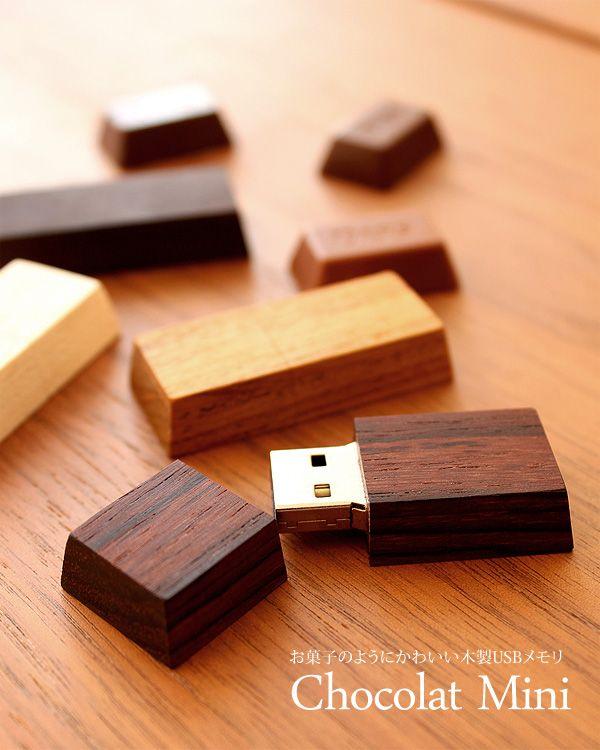 お菓子のようにかわいい木製USBメモリ
