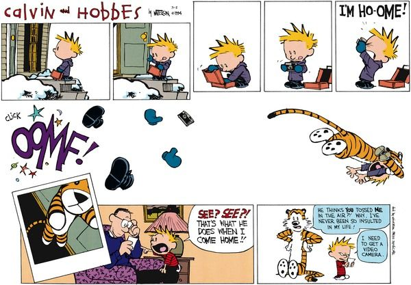 Calvin and Hobbes Comic Strip, March 02, 2014 on GoComics.com