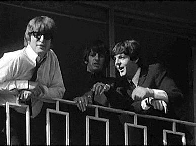 John Lennon, Ringo Starr and Paul McCartney.