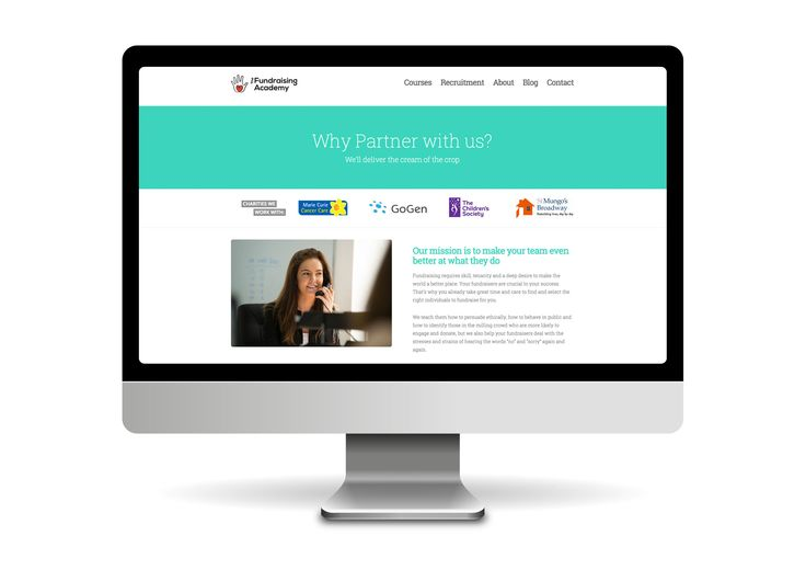 Fundraising Academy website design and development. www.thefundraisingacademy.co.uk