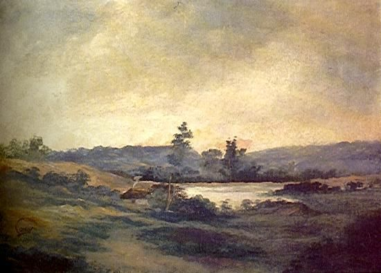 Francisco Antonio Cano Paisaje con rio
