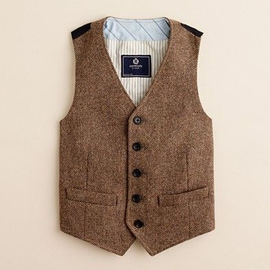 Tweed Vest. .  .This would be so cute with jeans a long sleeve button up! I love when little boys look like little men :)