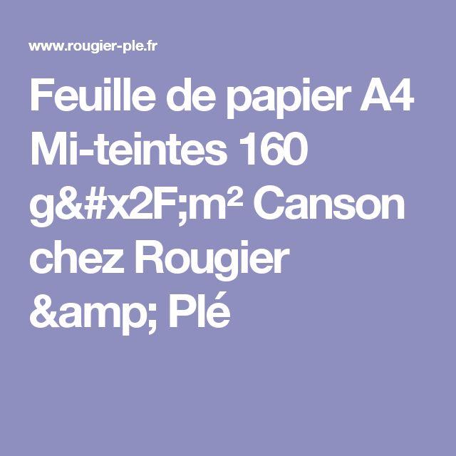 Feuille de papier A4 Mi-teintes 160 g/m²Cansonchez Rougier & Plé