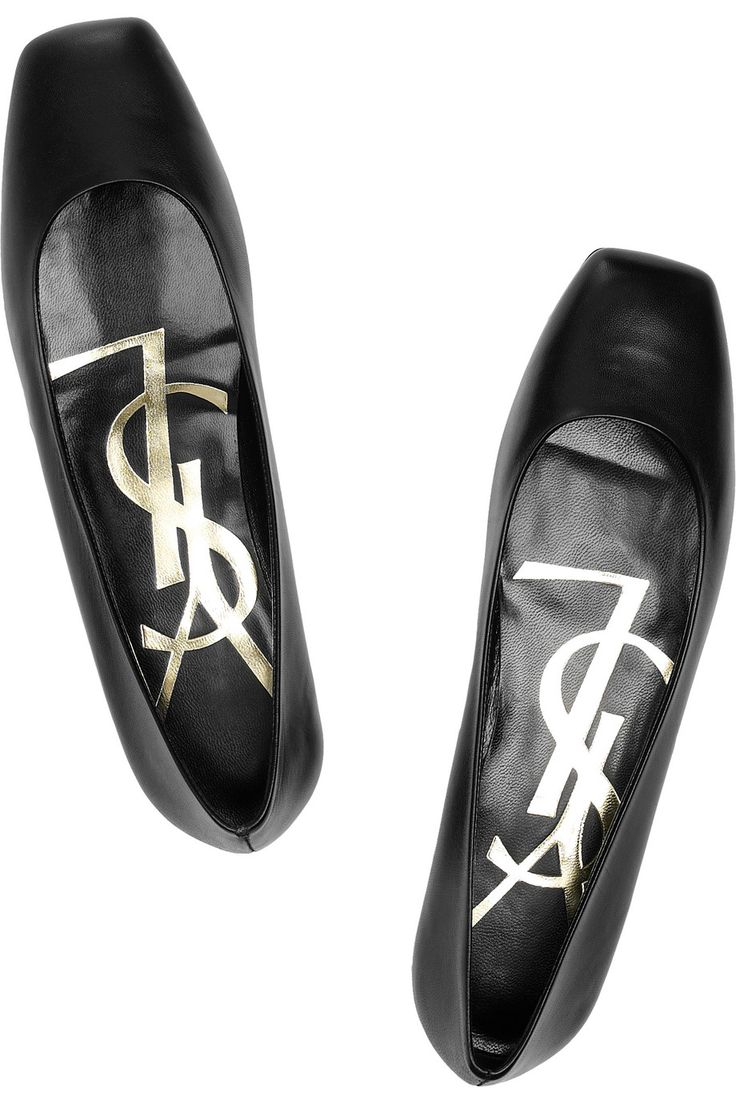 Square-toed Ballerina Flats by Yves Saint Laurent