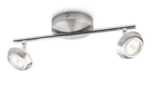 Oferta: 63.41€. Comprar Ofertas de Philips myLiving Sepia - Barra de focos, LED, 2 luces, IP20, luz blanca cálida, 15000 h, color gris barato. ¡Mira las ofertas!