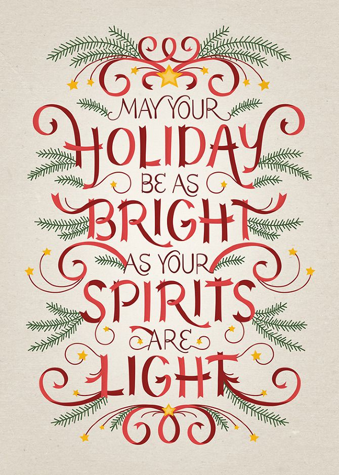 HOLIDAY CARD 2012 - Becca Clason - Lettering & Graphic Design