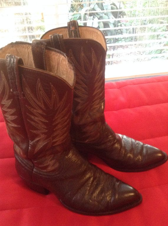 Dan Post Men's Western Boots two tone brown by Cheapvintagefashion, $129.00 https://www.etsy.com/listing/173674827/dan-post-mens-western-boots-two-tone?ref=shop_home_active