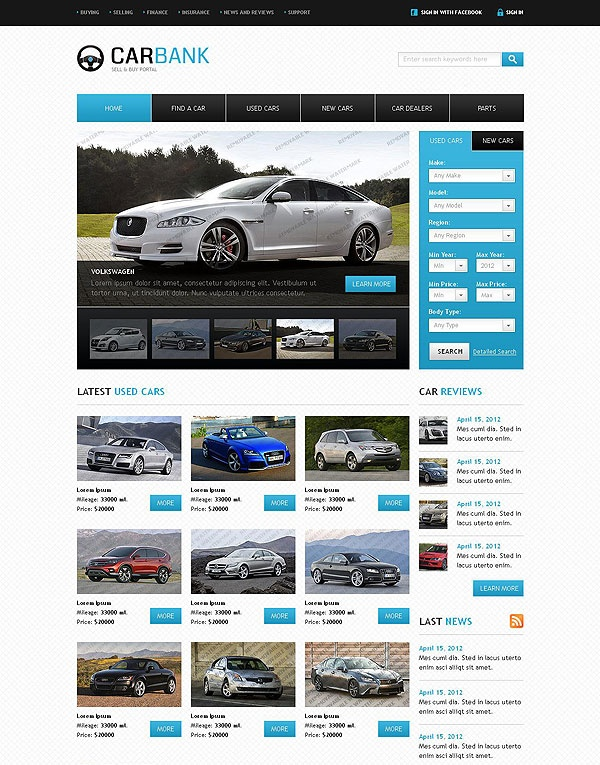 8 best 8 of the Best Joomla Templates for Car Dealerships - car for sale template word