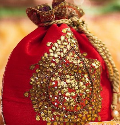 Hindu Wedding Favors Potli - Indian Wedding Favor,Multiutility and ...