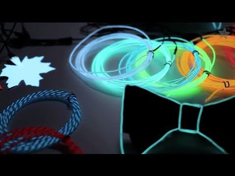 ▶ All About Electroluminescent Materials - EL Wire, EL Tape, EL Panel! - YouTube